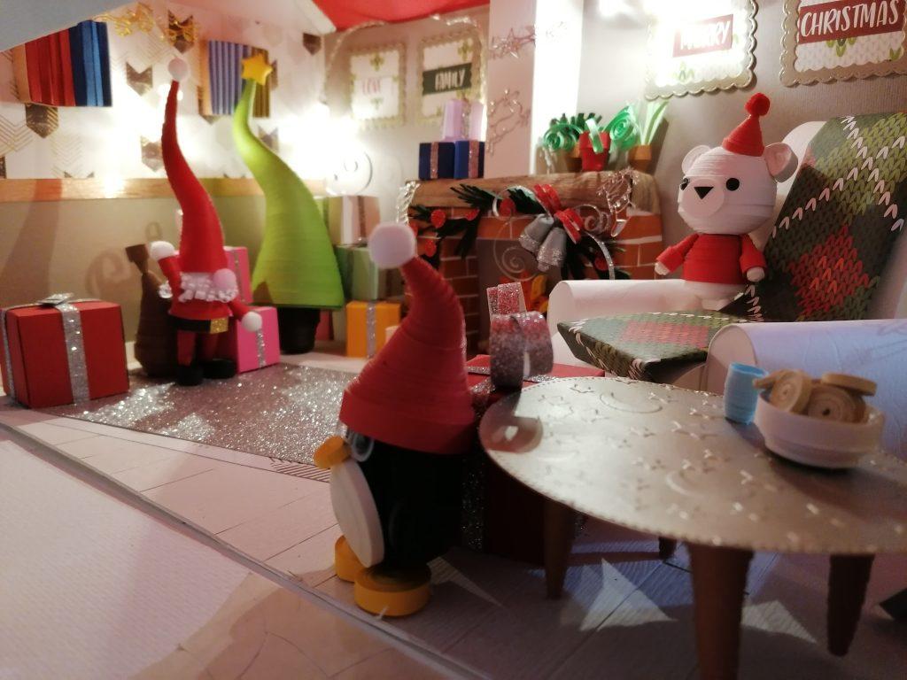 Babbo Natale e i suoi Amici in quilling 3d